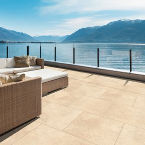 CeraPave Porcelain Paving - Travertine
